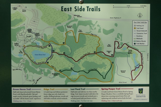 East Side Trails map
